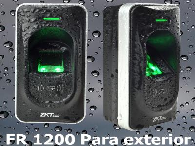 Light - ZKTECO KITF18MF1P - Kit con F18MF y Lector Esclavo FR1200 / Solución para Entrada y Salida / Tarjetas Mifare / 3,000 Huellas